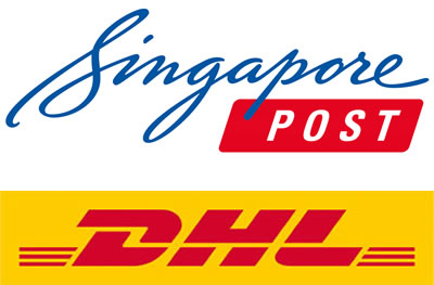 Flat rate shipping in partnership with SingPost & Discounted expedited shipping from DHL