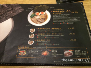 sanpoutei ramen review menu1
